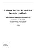 Pro-aktive Beratung bei häuslicher Gewalt im Land Berlin