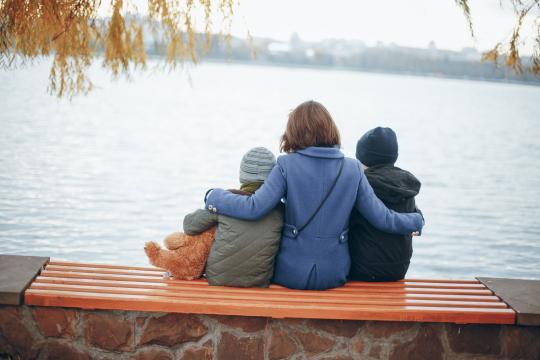 Bettina K. mit Kindern
